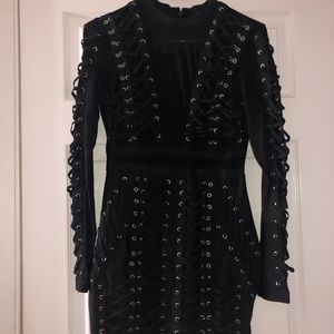 Black laced fashion nova dress